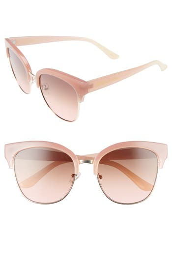 Women's Circus By Sam Edelman 52Mm Retro Sunglasses - Pink/ Nude