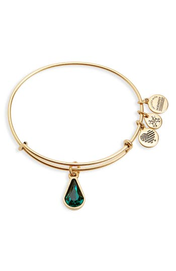 Women's Alex And Ani Birthstone Expandable Wire Bangle With Swarovski Crystal