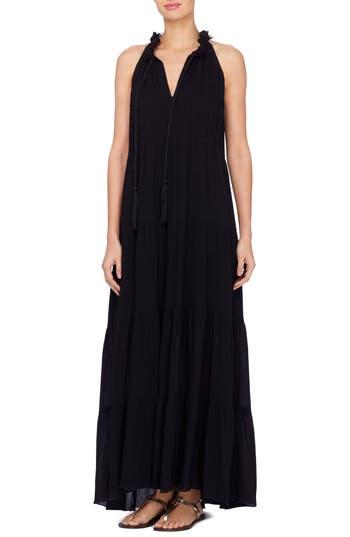 Catherine Catherine Malandrino Wylie Fringe Trim Maxi Dress