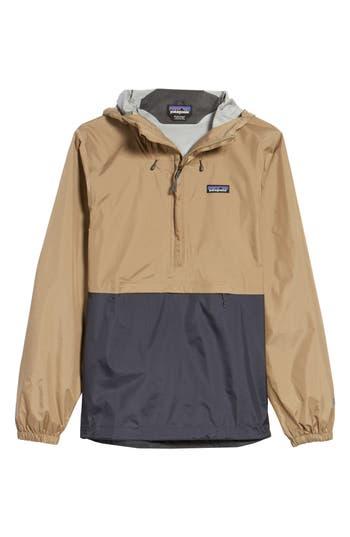 Patagonia Torrentshell Packable Regular Fit Rain Jacket, Beige