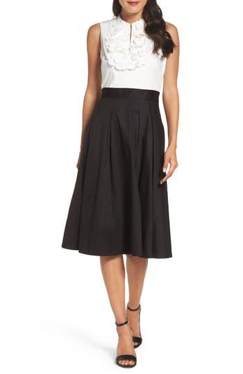 Women's Eliza J Mixed Media Midi Dress