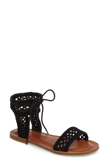 Lucky Brand Ariah Ankle Tie Sandal, Black