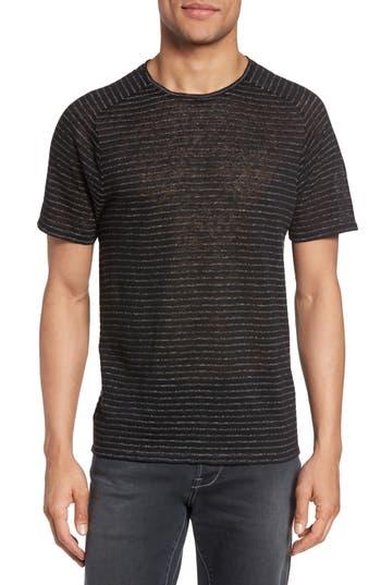 John Varvatos Star Usa Plated Stripe T-Shirt, Black