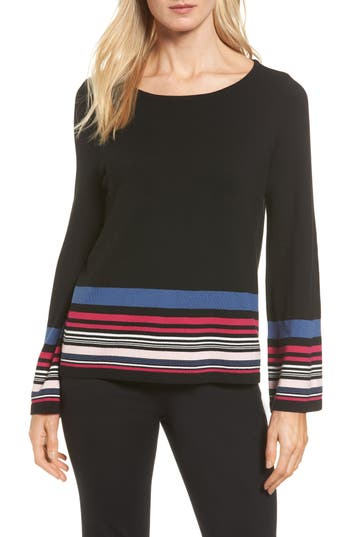 Women's Vince Camuto Stripe Bell Sleeve Sweater