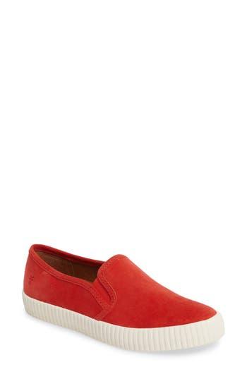 Women's Frye Camille Slip-On Sneaker, Size 8 M - Red