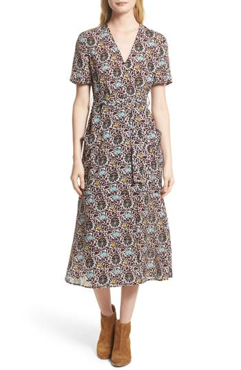 Women's A.l.c. Stephanie Print Silk Wrap Dress