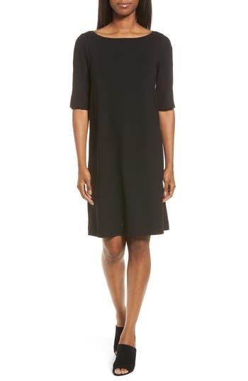 Eileen Fisher Jersey Shift Dress, Black