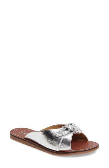 Seychelles Moonlight Knot Slide Sandal, Metallic