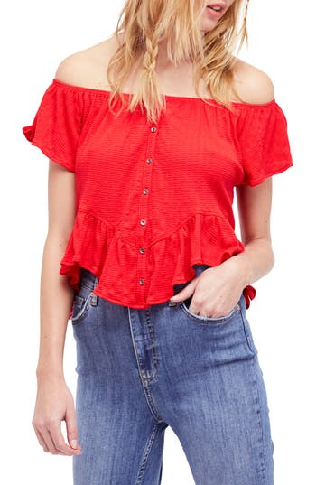 Free People Mint Julep Tee, Red
