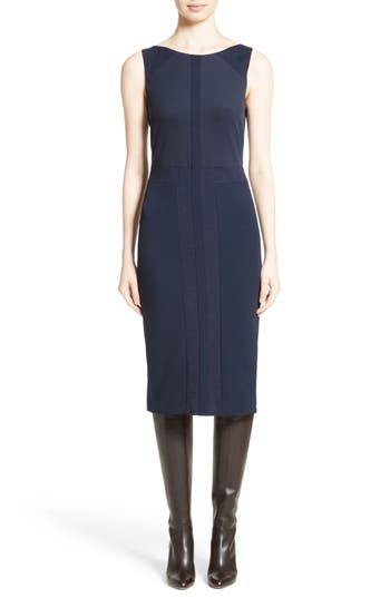 Max Mara Galli Sheath Dress, Blue