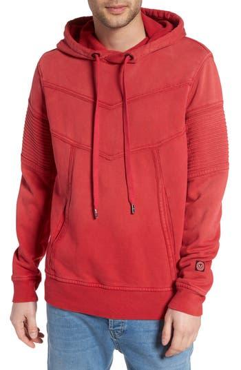 True Religion Brand Jeans Moto Hoodie, Red