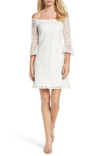 Nsr Lace A-Line Dress, White