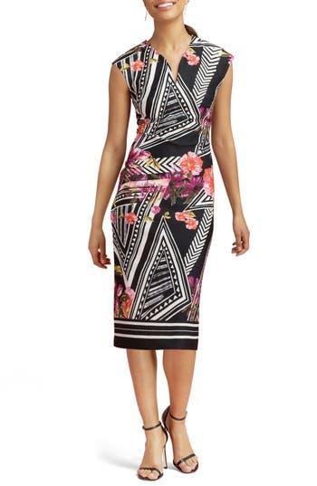Eci Print Scuba Midi Dress, Pink