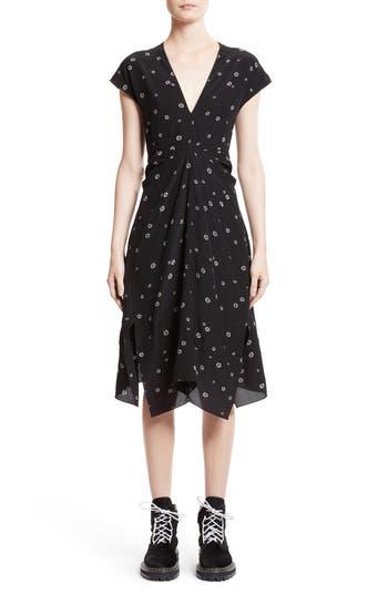 Proenza Schouler Print Silk Dress, Black