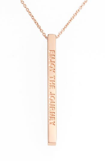 Women's Mantraband Enjoy The Journey Pendant Necklace