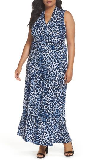 Plus Size Vince Camuto Leopard Song Maxi Dress