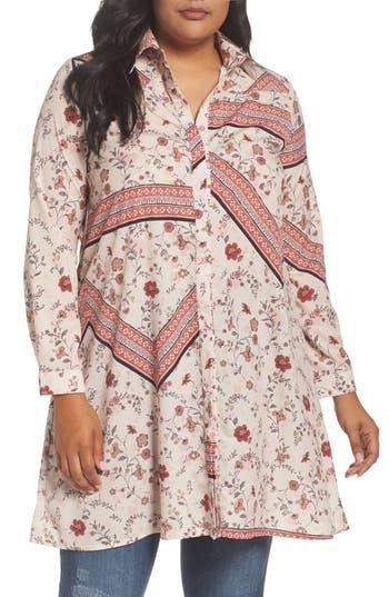 Plus Size Glamorous Print Shirtdress, 0W US / 24UK - Ivory