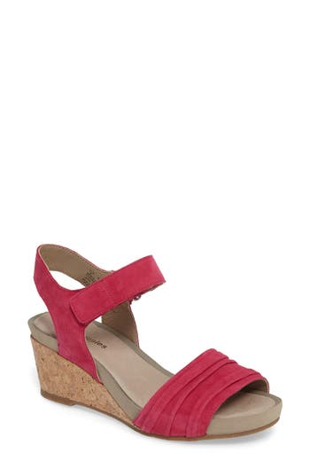 Hush Puppies Eviee Cassale Wedge Sandal, Pink