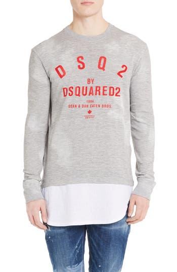 Dsquared2 Logo Double Hem T-Shirt, Grey