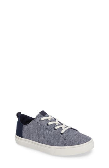 Boys Toms Lenny Sneaker Size 3.5 M  Blue