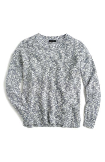 J.crew Oversize Marled Yarn Sweater, Blue