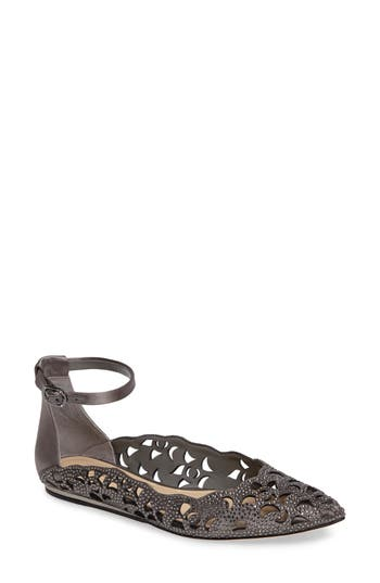 Imagine By Vince Camuto Garyn Ankle Strap Flat, Grey