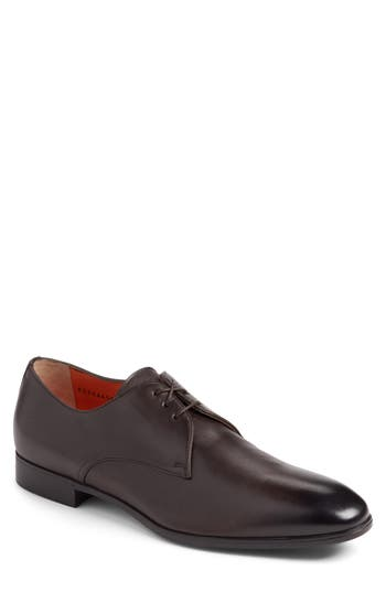 Santoni Glenn Plain Toe Derby