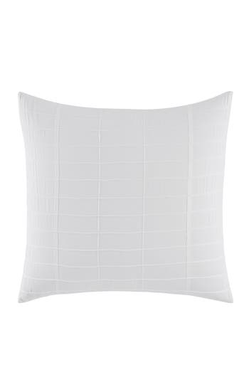 Vera Wang Mirrored Square Euro Sham, Size One Size - White
