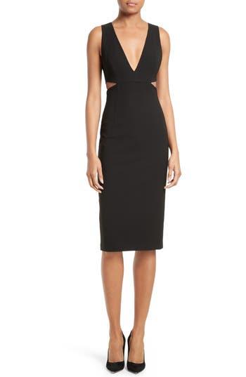 Alice + Olivia Riki Cutout Sheath Dress, Black