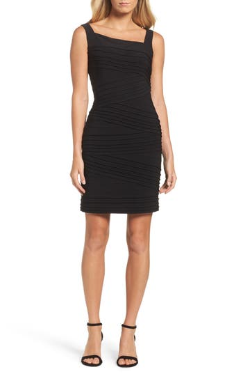 Adrianna Papell Banded Body-Con Dress, Black