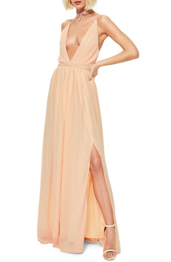 Women's Missguided Plunging Neck Maxi Dress