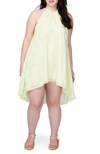 Plus Size Rachel Rachel Roy Jacqueline Burnout Swing Dress, Yellow