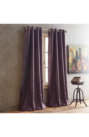 Dkny Derby Set Of 2 Window Panels, 0x84 - Purple