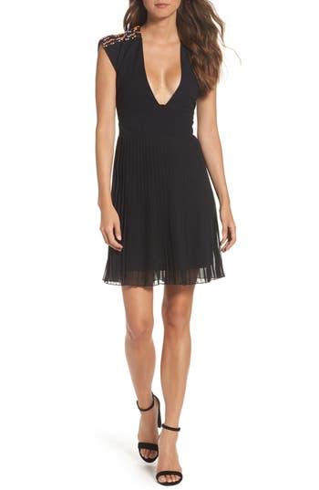 French Connection Dumaka Beaded Dress, Black