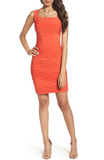 Adrianna Papell Banded Body-Con Dress, Orange