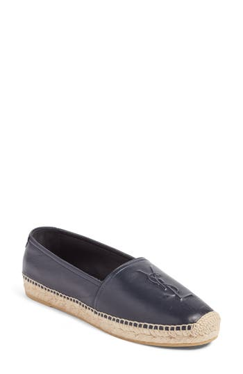 Saint Laurent Logo Espadrille, Blue