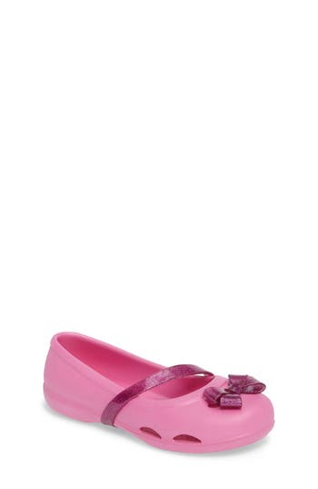 Toddler Girl's Crocs(TM) Lina Flat, Size 7 M - Pink