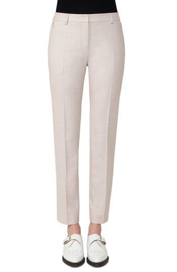 Women's Akris Stretch Wool Flannel Slim Pants