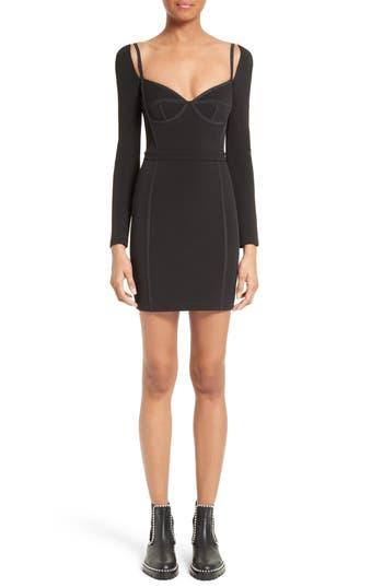 T By Alexander Wang Body-Con Dress, Black