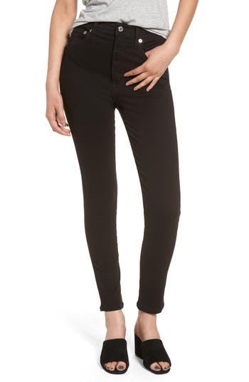 Agolde Roxanne Super High Rise Skinny Jeans, Black