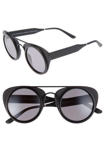 Men's Smoke X Mirrors Soda Pop 3 47Mm Retro Sunglasses - Matte Black/ Light Green