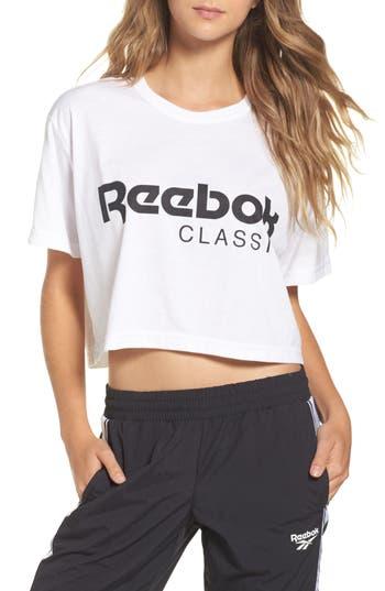 Women's Reebok Logo Crop Tee