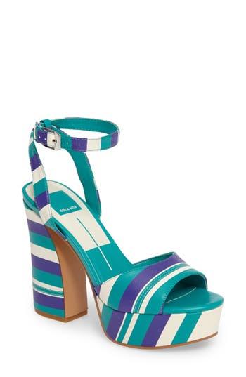 Women's Dolce Vita Gavvin Stripe Platform Sandal, Size 6 M - Blue