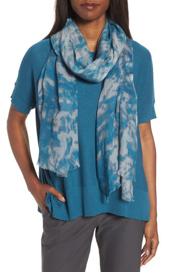 Women's Eileen Fisher Print Silk & Wool Scarf
