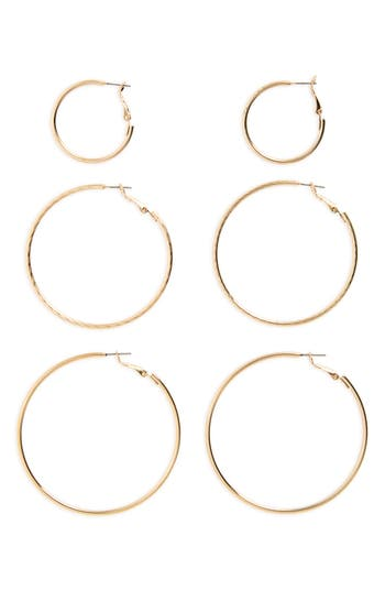 BP. 3-Pack Hoop Earrings