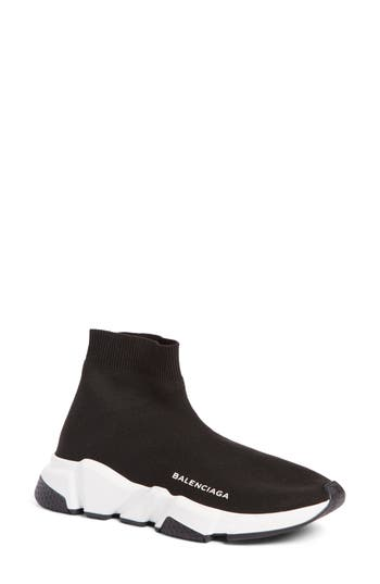 Balenciaga Speed Mid Sneaker, Black