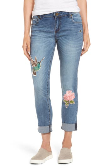 Kut From The Kloth Appliqued Boyfriend Jeans