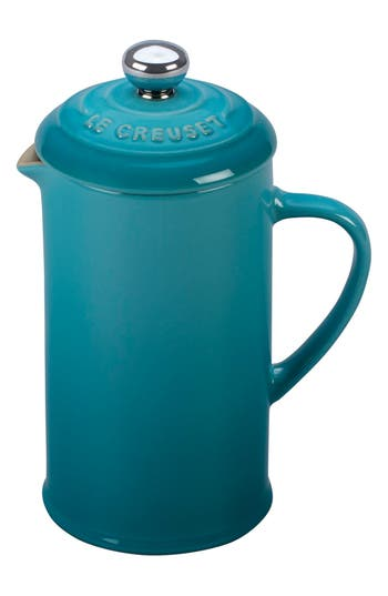 Le Creuset 12 Ounce Stoneware French Press, Size One Size - Blue