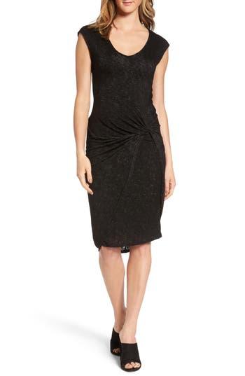Velvet By Graham & Spencer Twist Front Sheath Dress, Black