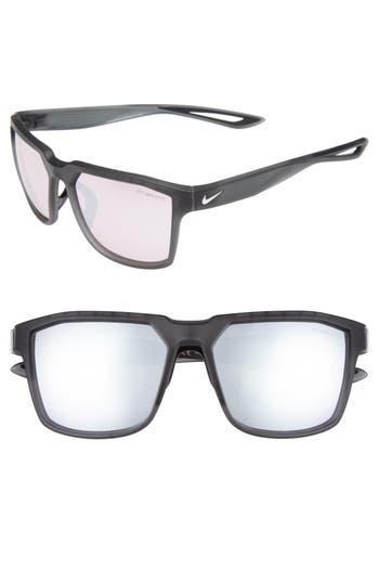 Nike Bandit R 5m Sunglasses - Matte Dark Anthracite/ White
